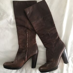 Ash Knee High Brown Leather boots size 9